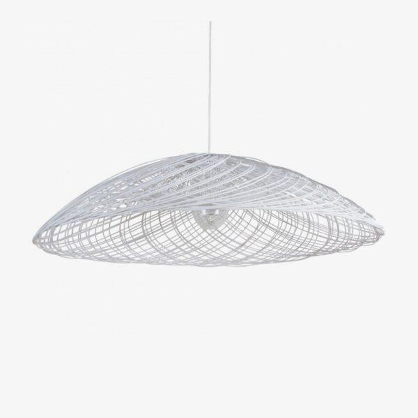 Lámpara colgante Satelise D110 blanco Forestier-0