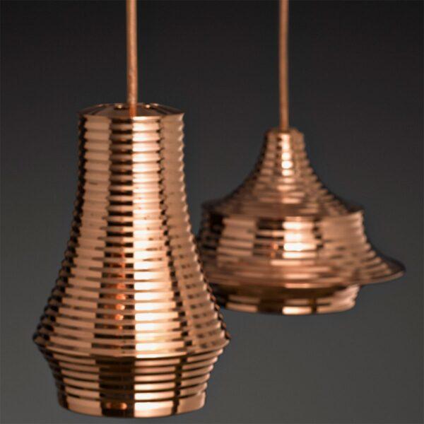 Lámpara colgante Tibeta 01 cobre brillo Bover-461