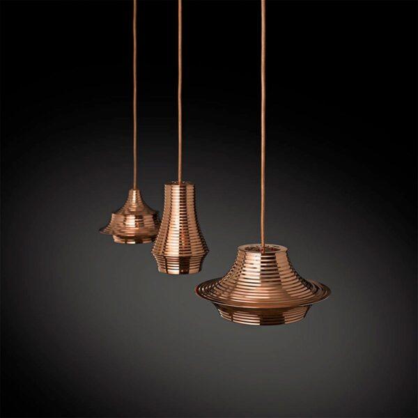 Lámpara colgante Tibeta 03 cobre brillo Bover-457