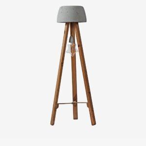 Lámpara de pie Cogomelo madera | A Vida