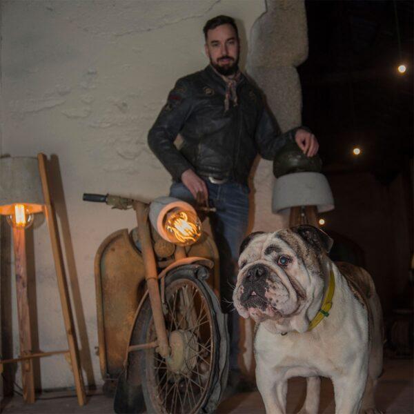 Lámpara de pie Cogomelo madera A Vida -1488