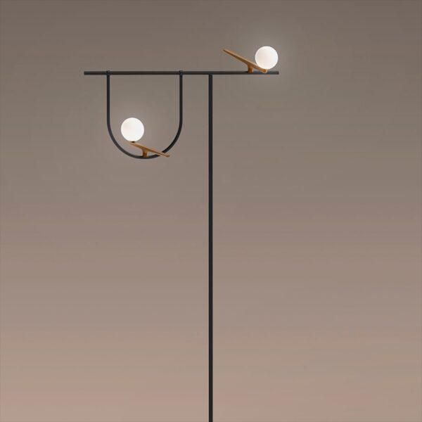 Lámpara de pie Yanzi LED latón Artemide-1565