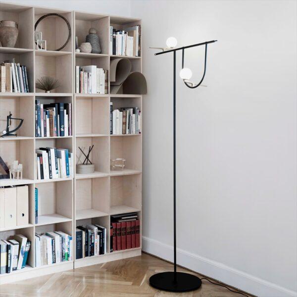 Lámpara de pie Yanzi LED latón Artemide-1566