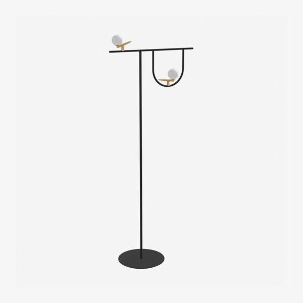 Lámpara de pie Yanzi LED latón Artemide-0