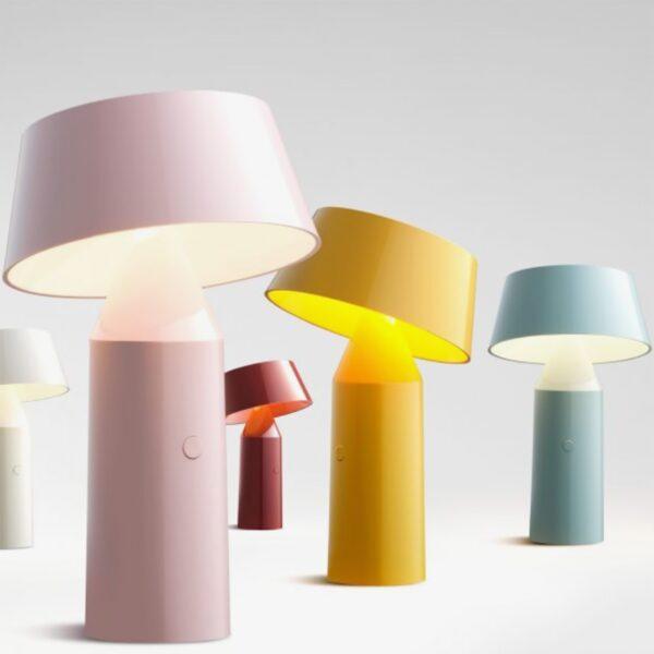 Lámpara de sobremesa Bicoca azul claro Marset-785
