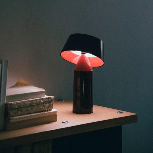 Lámpara de sobremesa Bicoca rojo vino Marset-1642