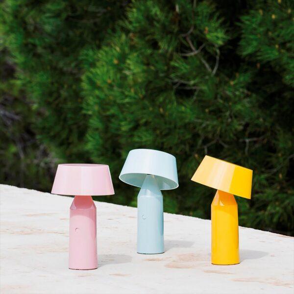 Lámpara de sobremesa Bicoca rosa palo Marset-1644