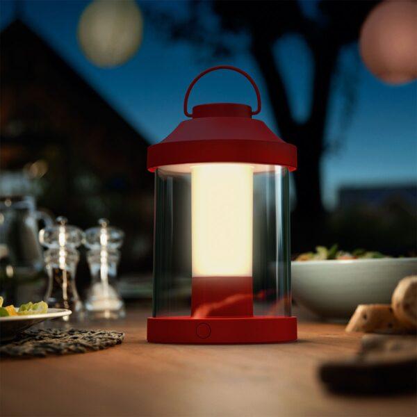 Lámpara de sobremesa inalámbrica Abelia rojo Philips-1132