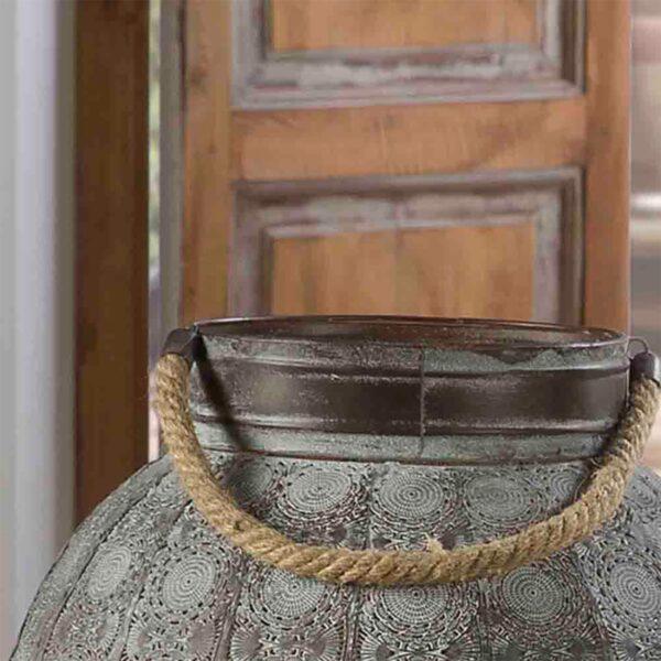 Lámpara de sobremesa Kayla 77 gris metalizado Schuller-1001