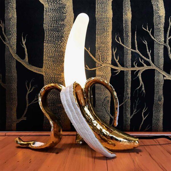 Lámpara de sobremesa Louie oro Seletti -856
