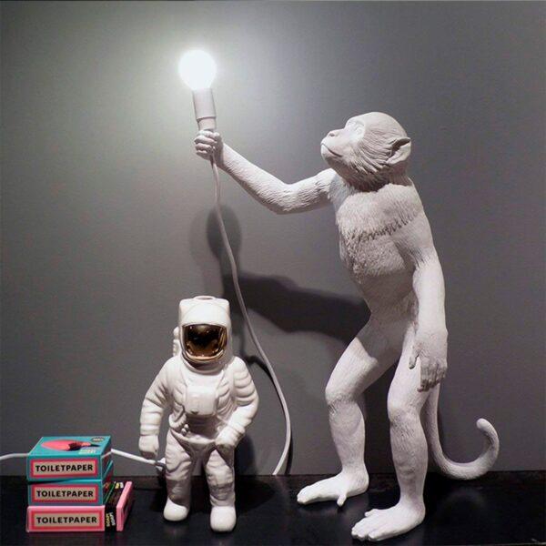 Lámpara de sobremesa Monkey blanco levantado Seletti-858