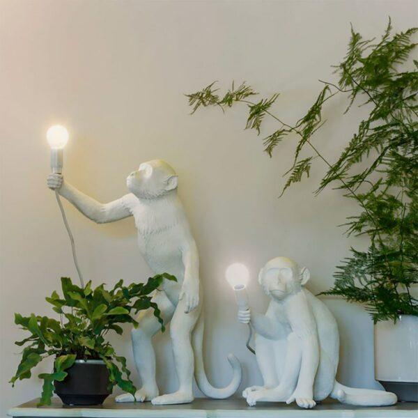 Lámpara de sobremesa Monkey blanco levantado Seletti-860