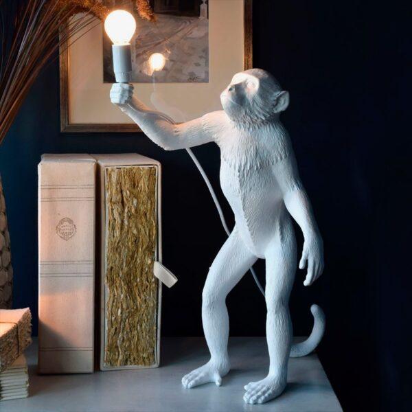 Lámpara de sobremesa Monkey blanco levantado Seletti-1722