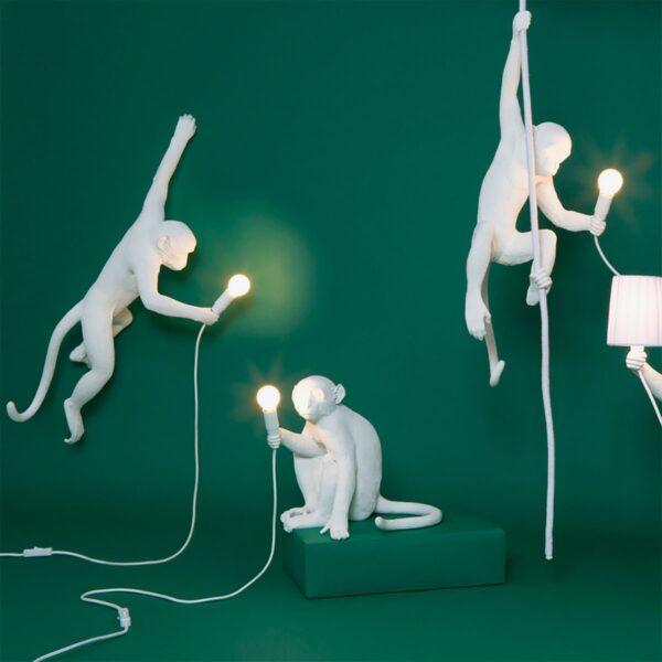 Lámpara de sobremesa Monkey blanco sentado Seletti-869