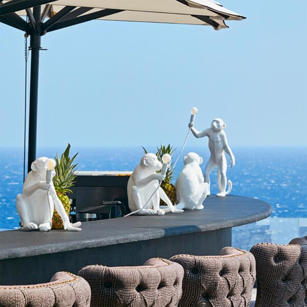 Lámpara de sobremesa Monkey blanco sentado Seletti-871