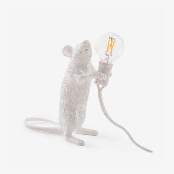 Lámpara de sobremesa Mouse blanco levantado Seletti-0