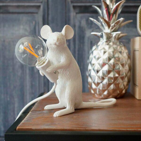 Lámpara de sobremesa Mouse blanco sentado Seletti-1721