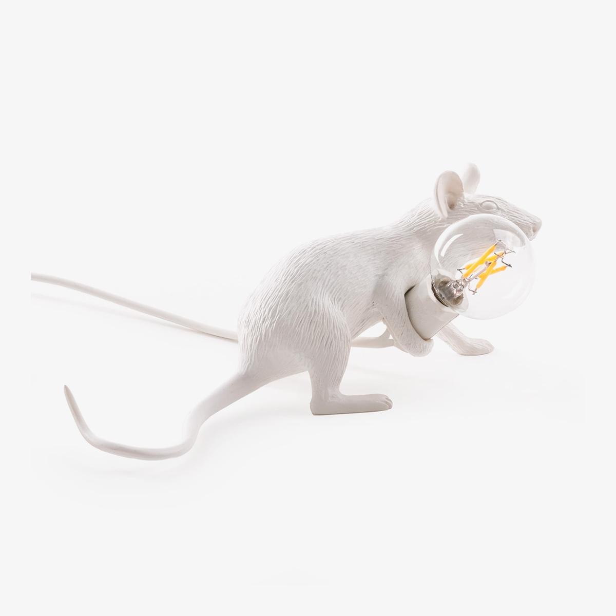 Lámpara de sobremesa Mouse blanco tumbado Seletti-0