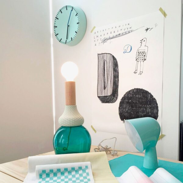 Lámpara de sobremesa MRND verde Seletti-841