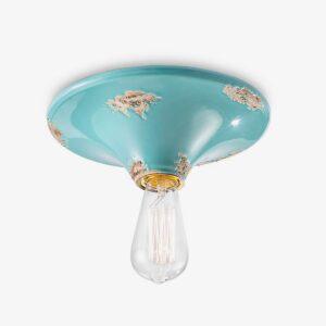 Lámpara de techo plafón Vintage azul Ferroluce-0