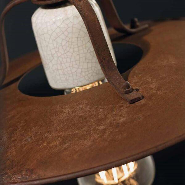 Lámpara de techo plafón Grunge marrón Ferroluce-685