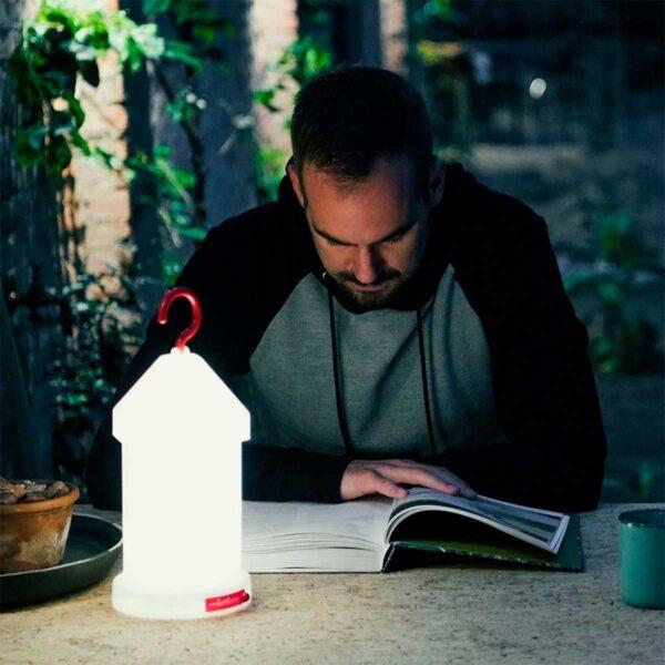 Lámpara inalámbrica Lampie-on blanco Fatboy-555