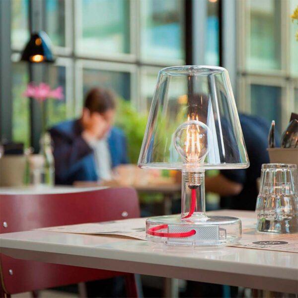 Lámpara inalámbrica Transloetje transparente Fatboy-546
