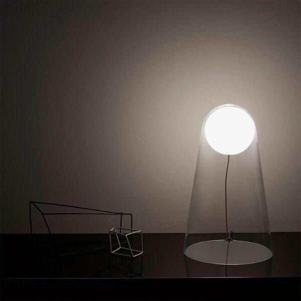 Lámpara sobremesa Satellight transparente Foscarini-589