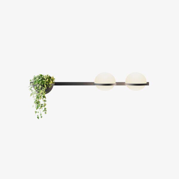Aplique de pared Palma doble esfera planta grafito Vibia-0