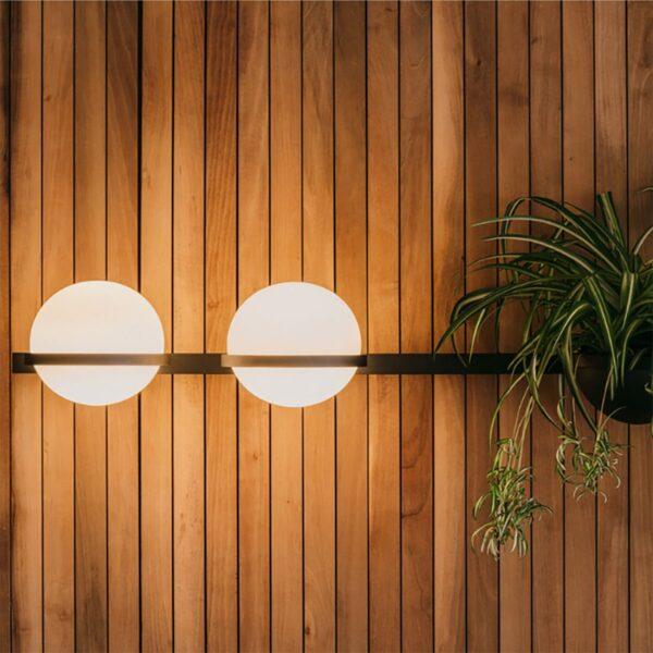 Aplique de pared Palma triple esfera planta grafito Vibia-1241