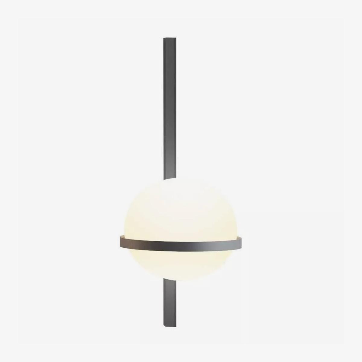 Aplique de pared vertical Palma esfera grafito Vibia-0