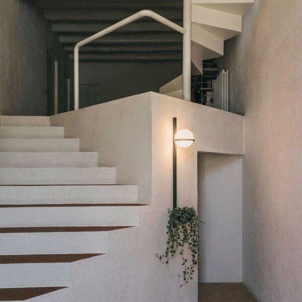 Aplique de pared vertical Palma esfera planta grafito Vibia-1250