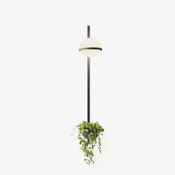 Aplique de pared vertical Palma esfera planta grafito Vibia-0