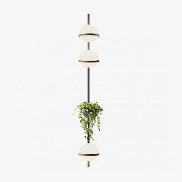 Aplique de pared vertical Palma triple esfera planta grafito Vibia-0