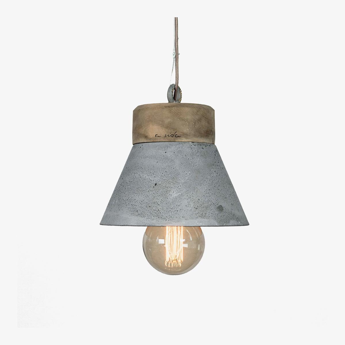 Lámpara colgante A Vida madeiro gris-0