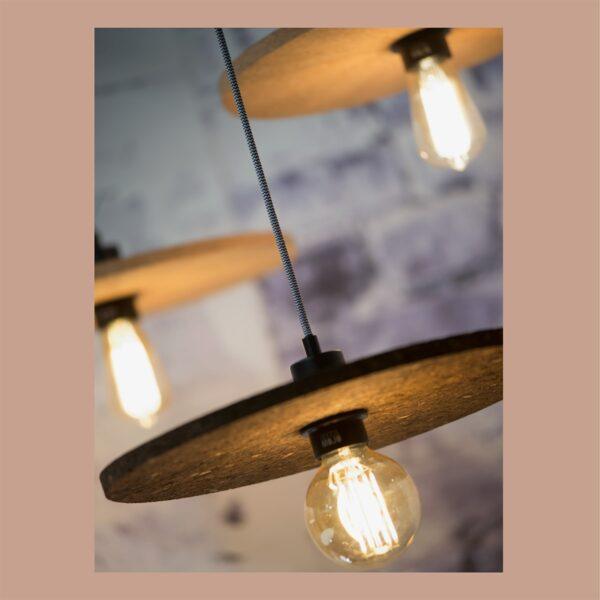 Lámpara colgante Algarve marrón oscuro Good and Mojo-1326