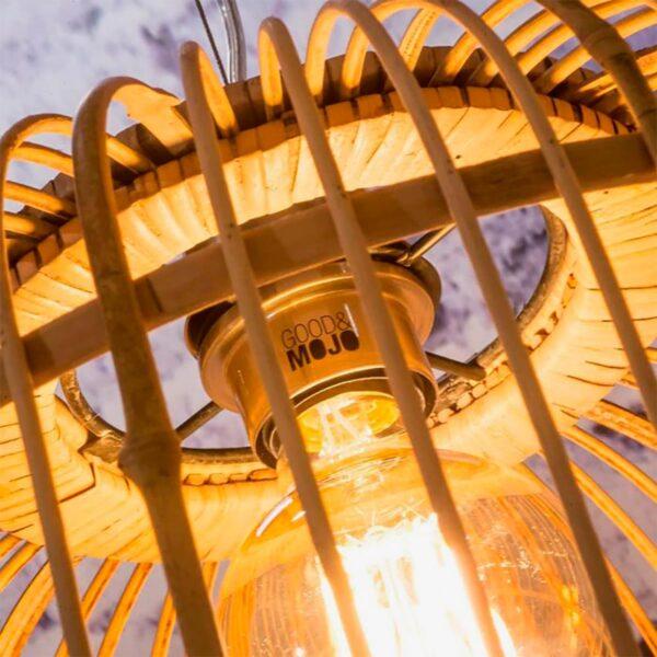 Lámpara colgante Borneo natural doble pantalla Good and Mojo-1340