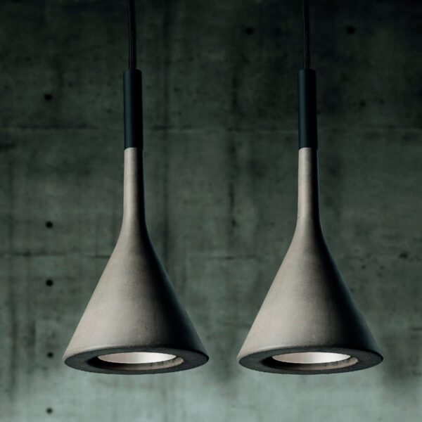 Lámpara colgante exterior Aplomb gris Foscarini-1597