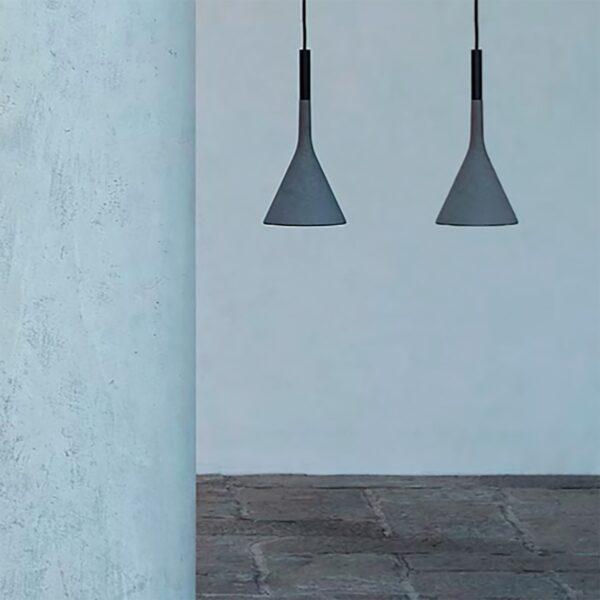 Lámpara colgante exterior Aplomb gris Foscarini-1156