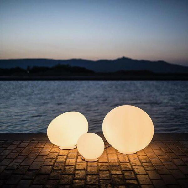 Lámpara de suelo exterior Gregg Terra grande blanco Foscarini-1596