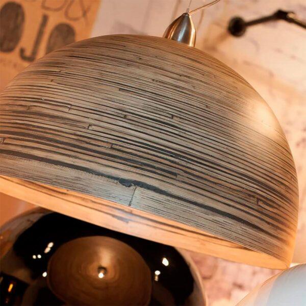 Lámpara colgante Halong marrón madera Good and Mojo-1356