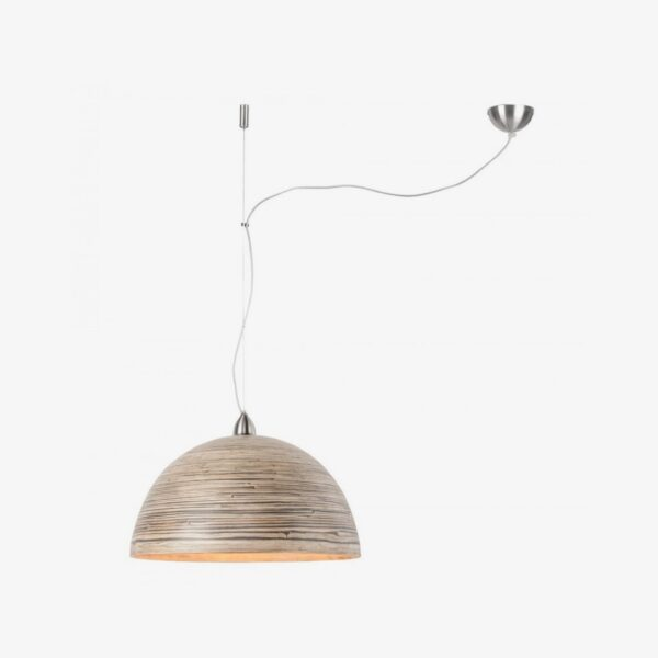 Lámpara colgante Halong marrón madera Good and Mojo-0