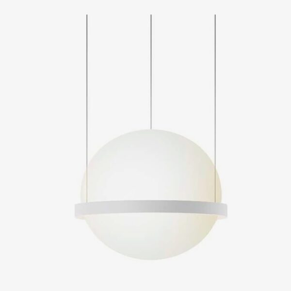 Lámpara colgante Palma esfera blanco Vibia-0