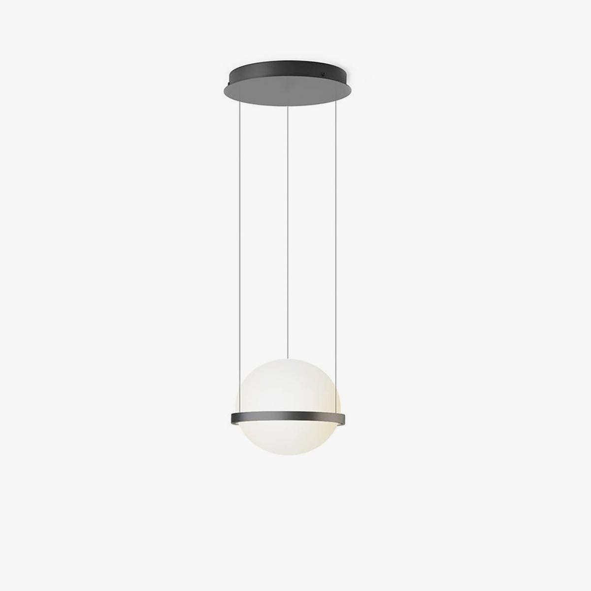 Lámpara colgante Palma esfera grafito Vibia-0