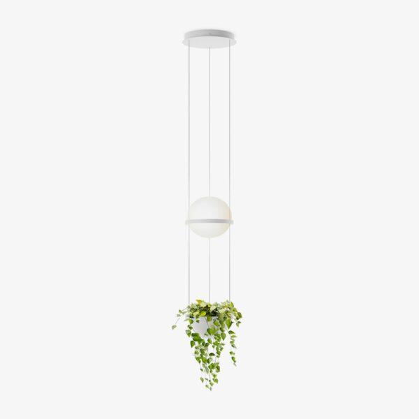 Lámpara colgante Palma esfera planta blanco Vibia-0