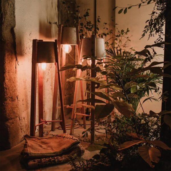 Lámpara de pie Esmorga gris A Vida-1510