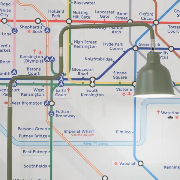Lámpara de pie London verde Good and Mojo-1317