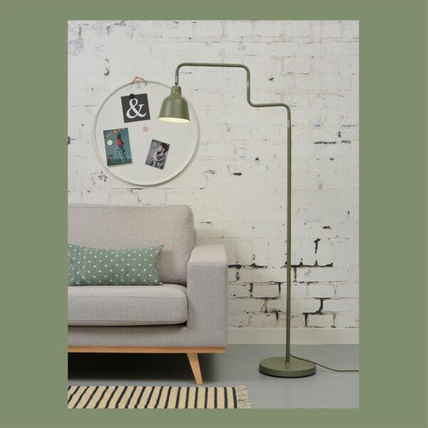 Lámpara de pie London verde Good and Mojo-1316