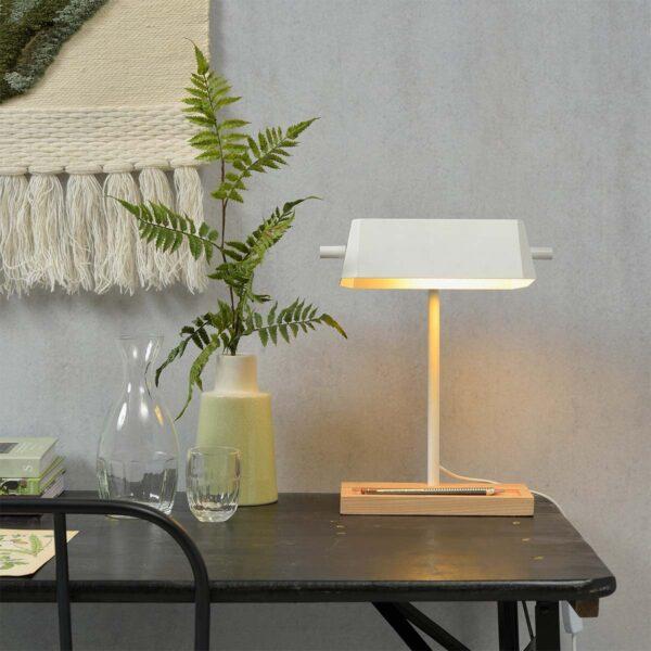Lámpara de sobremesa Cambridge blanco Good and Mojo-1391