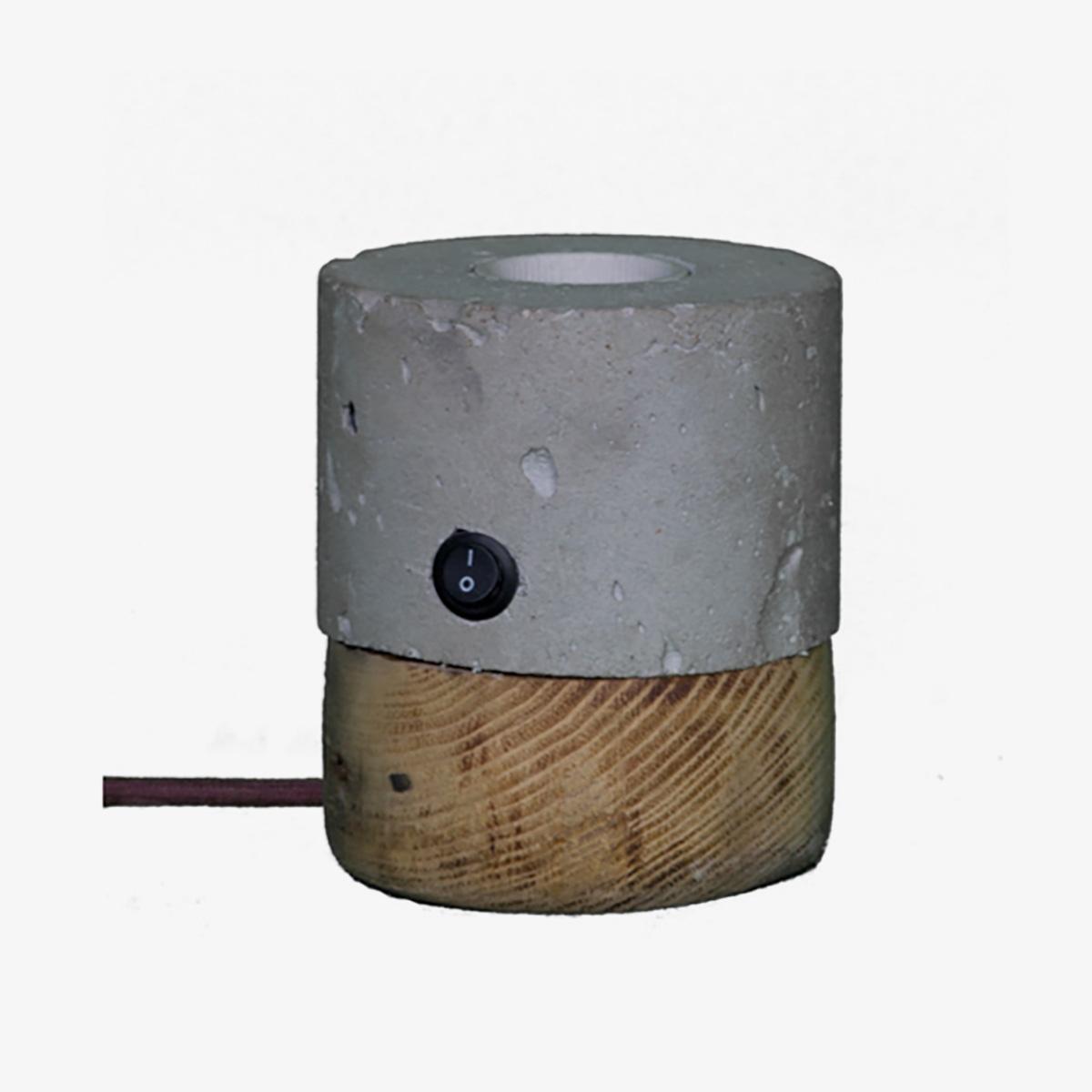 Lámpara de sobremesa Chorima madeiro gris A Vida-0